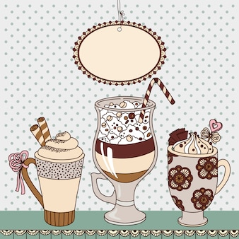 Koffiekopjes illustratie