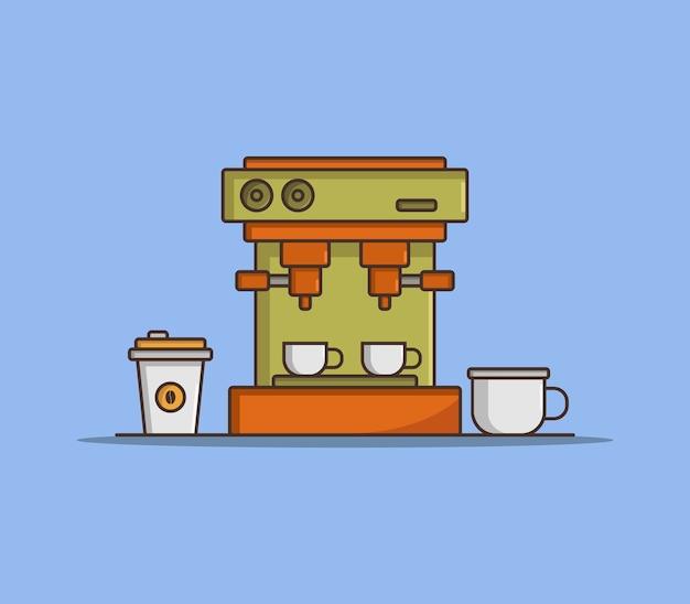 Koffiemachine geïllustreerd