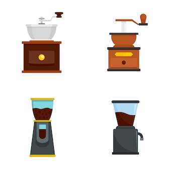 Koffiemolen icon set