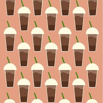 Koffiepatroon achtergrond social media post vectorillustratie