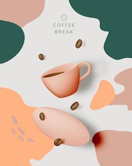 Koffiepauze achtergrond
