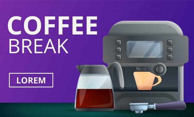 Koffiepauze concept illustratie, cartoon stijl