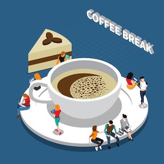 Koffiepauze isometrische samenstelling