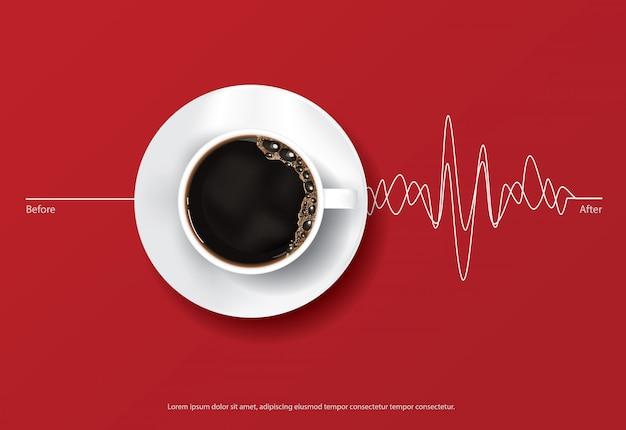 Koffieposter advertentie flayers