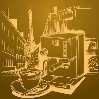 Koffiethema, schetsfoto's.