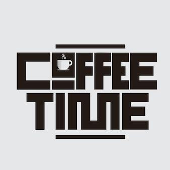 Koffietijd belettering conceptontwerp