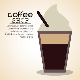 Koffiewinkel ijskoud stro