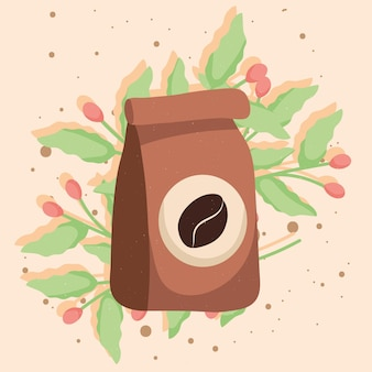 Koffiezak en plant