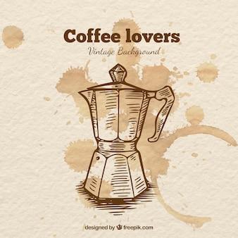 Koffiezetapparaat getrokken