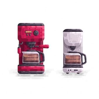 Koffiezetapparaat machine vectorillustratie