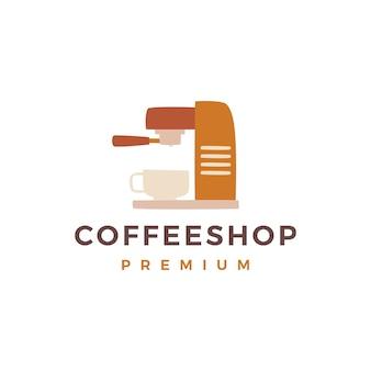 Koffiezetapparaat machine winkel logo