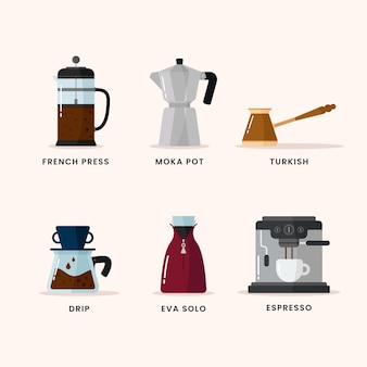 Koffiezetmethoden collectie