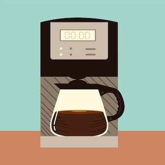 Koffiezetmethoden, digitaal koffiezetapparaat waterkoker glas