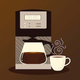 Koffiezetmethoden, digitale koffiezetapparaat, waterkoker en beker