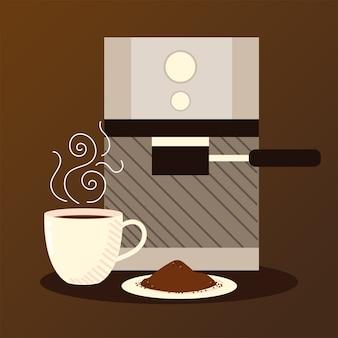 Koffiezetmethoden, espressomachine apparaat en kopje