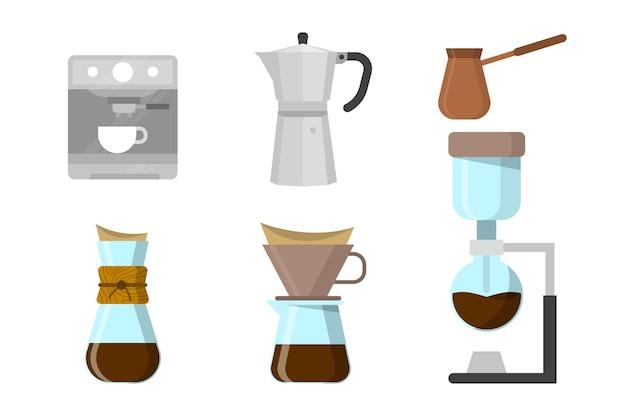 Koffiezetmethoden geïllustreerd