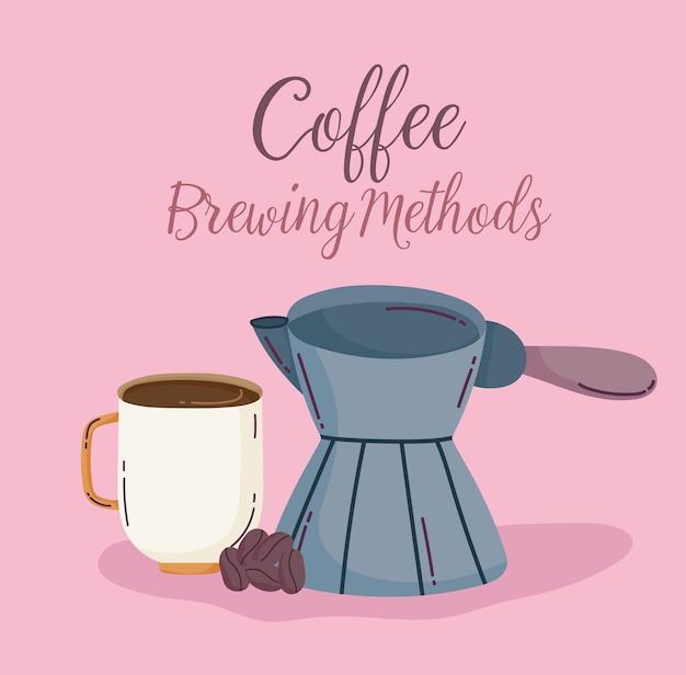 Koffiezetmethoden, turkse cezve-kop en zaden