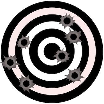 Kogelgaten. gun bullet holes in metalen muur. vuurschoteffect. schade illustratie