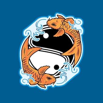 Koi vissen op yinyang