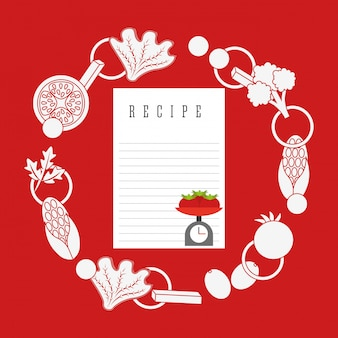 Koken recept illustratie