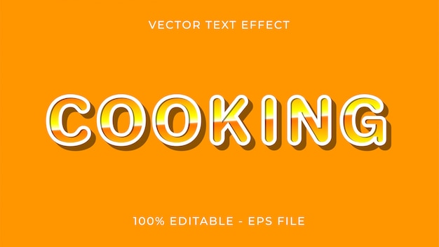 Koken teksteffect