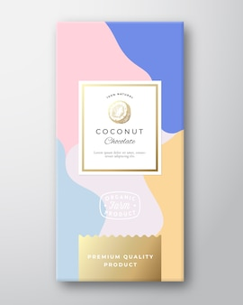 Kokos chocolade label.