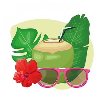 Kokos met drankje