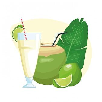 Kokosnoot drankje pictogram