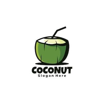 Kokosnoot handgetekende illustratie