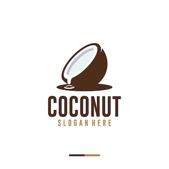 Kokosnoot, water, logo-ontwerpinspiratie