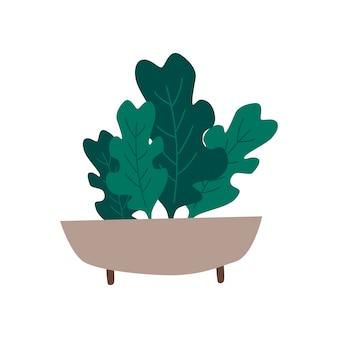 Kom met organische greens gezonde voedselvector