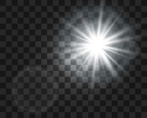 Komeet op een transparante achtergrond. heldere ster. sterrenhemel mooi pad. vallende ster. komeet staart. meteoor vliegt. ruimte-object.