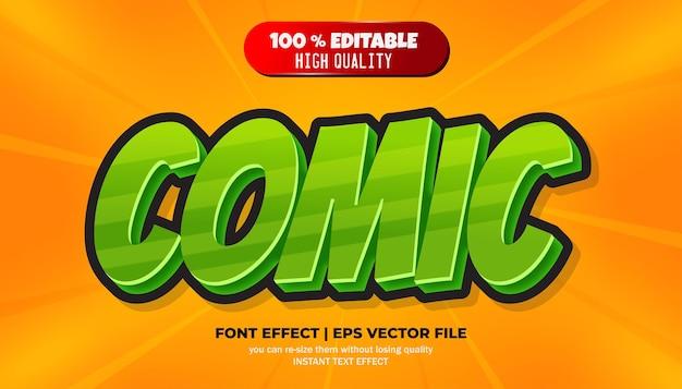Komisch bewerkbaar lettertype-effect