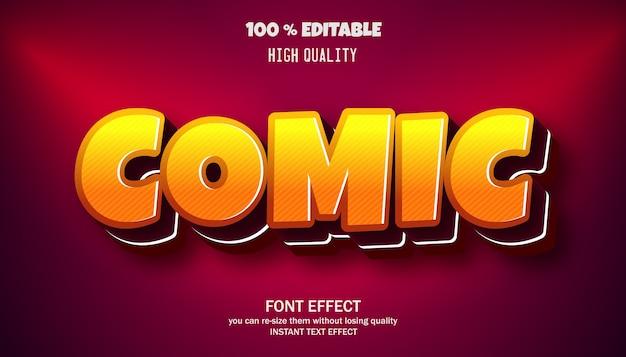 Komisch teksteffect, bewerkbaar lettertype