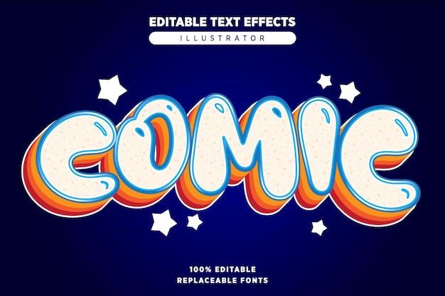 Komisch teksteffect bewerkbaar