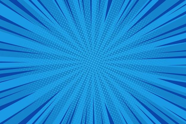 Komische abstracte blauwe achtergrond