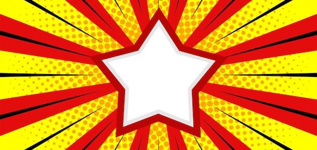 Komische burst-achtergrond met ster