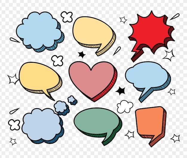 Komische dialoogvenster lege wolk set