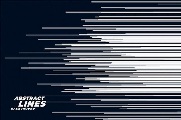 Komische horizontale snelheid lijnen achtergrond