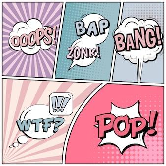 Komische pop-art stijl achtergrond.