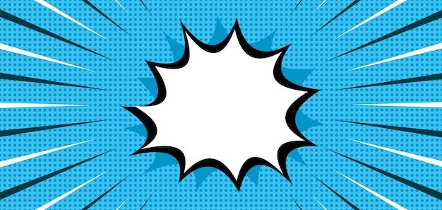 Komische popart blauwe gestippelde achtergrond