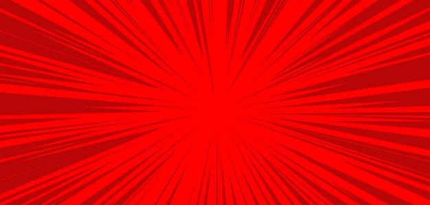 Komische rode burst-achtergrondsjabloon