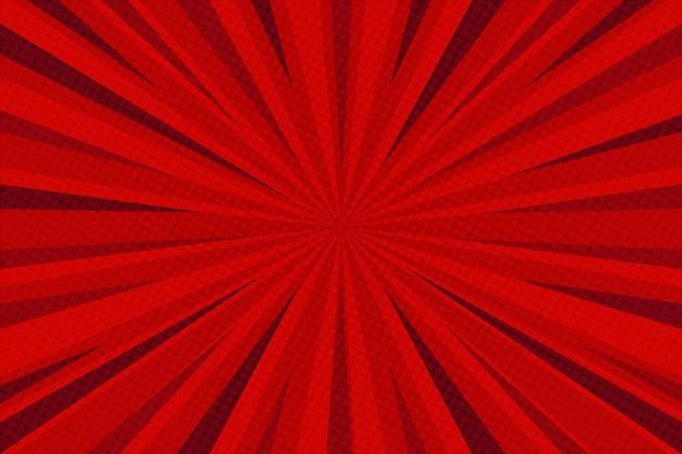 Komische stijl achtergrond rood gekleurd