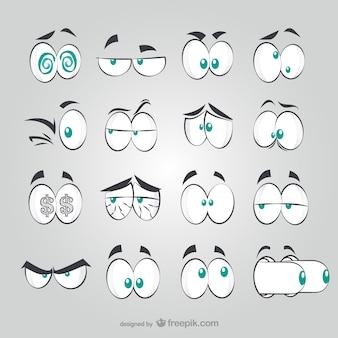 Komische stijl ogen