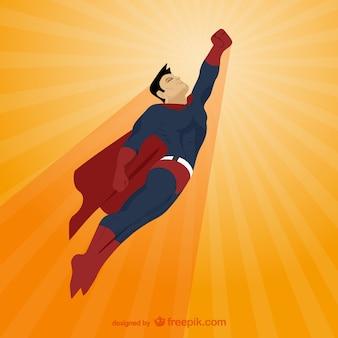 Komische stijl superheld illustratie