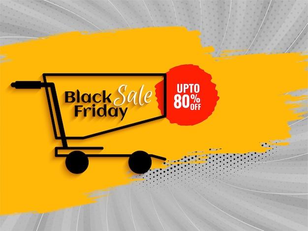 Komische stijl zwarte vrijdag verkoop korting achtergrond vector