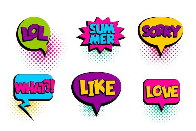 Komische tekst tekstballon sorry, liefde, zoals, zomer