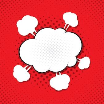 Komische tekstballon illustratie