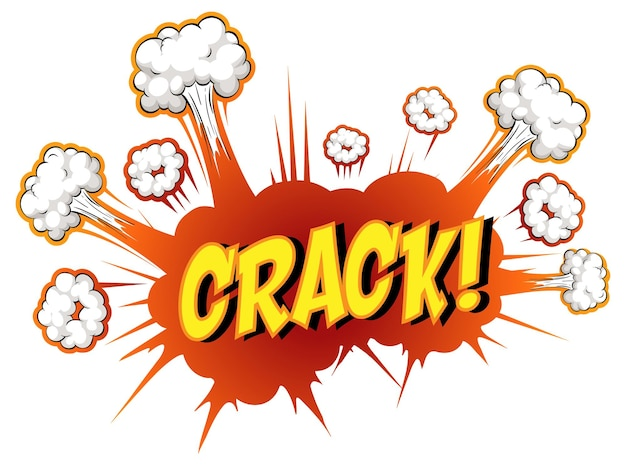 Komische tekstballon met crack-tekst