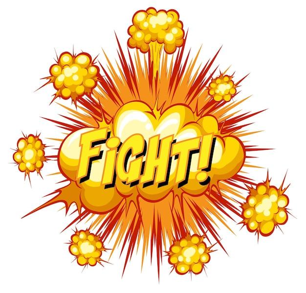 Komische tekstballon met vechttekst